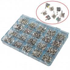 1000 PCS Dental Metal Orthodontics Brackets Brace MINI Roth.022 345 Hooks W/ Mark