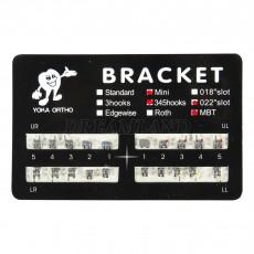 10packs Dental Orthodontic ORTHO Metal Braces Bracket Mini MBT 3 4 5 Hooks 022