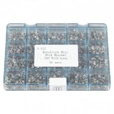 Dental Metal Orthodontics Monoblock Brackets Brace MINI Roth.022 345 Hooks