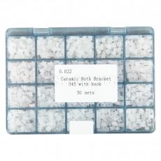 1000pcs/Pack Dental Ceramic Braces Bracket 5*5 hooks 3 4 5 Orthodontic Roth.022
