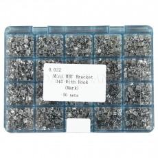 1000 PC Dental Metal Orthodontics Brackets Brace MINI Roth.022 345 Hooks W/ Mark