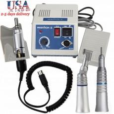 Dental Lab Marathon Electric Micromotor + Contra Angle Straight Handpiece